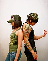 CHANCHAN!!!! (chanchan222) Tags: tattoo photoshop fun military camoflauge yojoe edhardy danchan danielchan vanchan chanchan222 wwwchanofamericacom chanwaibun