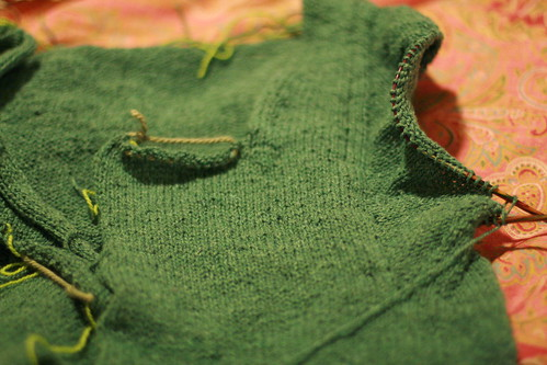 ez green sweater sleeve