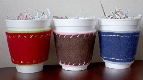 Fleece Coffee Cup Cozies 1