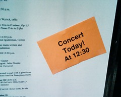 Concert today!