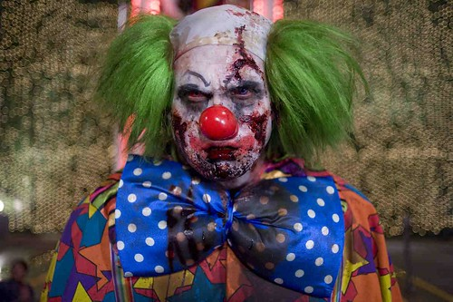 Zombie clown from Zombieland