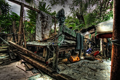 damaged  (Mat Padin) Tags: wood dark rubbish hdr rubble kayu