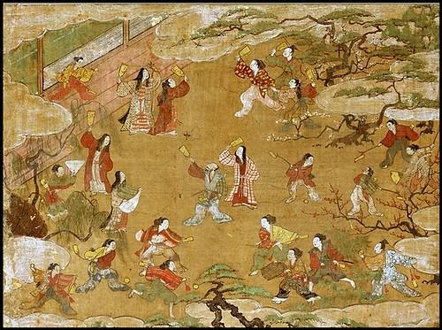 Antiguo grabado Hanetsuki