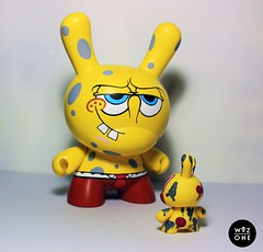 "8"" SpongeBob (WuzOne) Tags: art toy vinyl kidrobot spongebob custom cartoons dunny trustnobody wuzone"