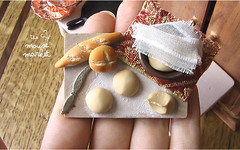 Country Bread Making Board (1/12 scale) (theMouseMarket.com) Tags: food bread baking dough board country polymerclay baguette preparation dollhouse fakefood miniaturefood oneinchscale dollhouseminiatures 112scale
