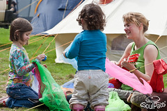 Children being entertained at a campsite. (SoulPad Cotton Canvas Bell Tents) Tags: camping musician music children outdoors living dress bell guitar tent september teacher canvas entertainment fancy 2009 campsite glamping soulpad