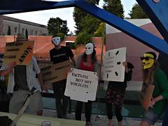 ASI@Danish-pavilion-Osloo1 (Anon Stateless Immigrants) Tags: art performance activism anonymous subversion freedomofspeach capitalsim danishpavilion osloo floatingpavilion statelessimmigrantspavilion 54venicebiannale