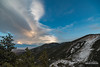 Sand Turn Lenticular (kevin-palmer) Tags: february winter wyoming nikond750 sky clouds sandturn overlook lenticular windy gusty sunset colorful orange blue bighornnationalforest bighornmountains trees evening littletonguerivercanyon irix15mmf24 snow dayton