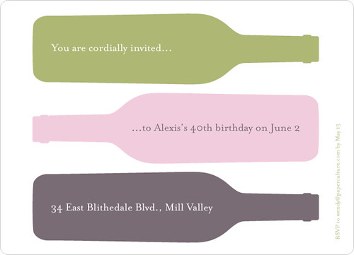 Party Invitation - Fine Wine, Fine Time by Paper Culture.