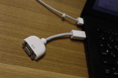 Apple Mini DVI-VGAアダプタ