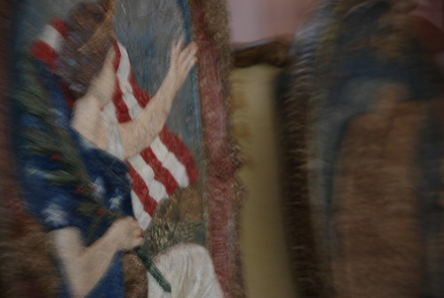 """blurry carousel (that was playing """"Battle Hymn of the Republic"""""""