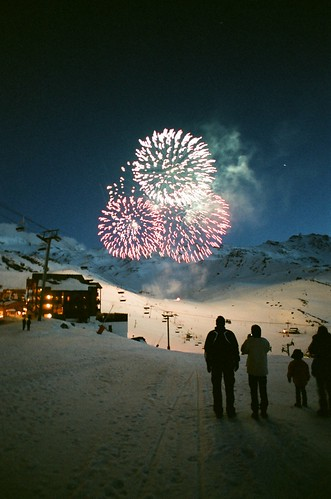Fireworks in Val Thorens por Ed.ward.