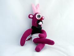 Buck Toothed Cyclops Sock Monkey (ilmuffino) Tags: cyclops sockmonkey jahsocky