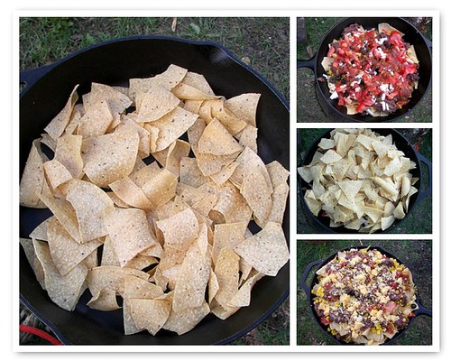 Layering the Campfire Nachos