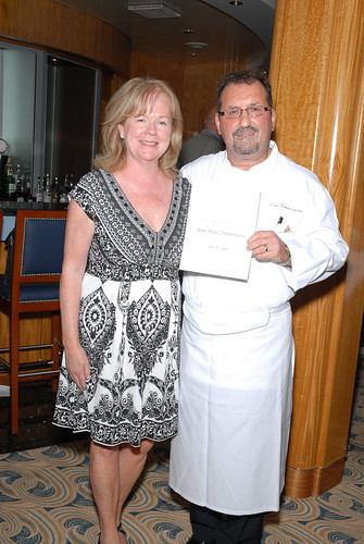 Susan Unger and Chef Zimmermann
