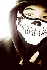 Ninja Shit (direktive4) Tags: portrait black self skull hoodie eyes mask ninja