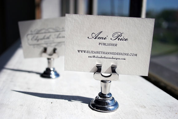 Business Cards for Ami of Elizabeth Anne Designs
