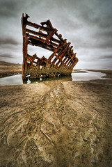 Skeletal Remains of the Peter Iredale (Deej6) Tags: oregon coast pacific northwest fort ominous stevens creepy peter shipwreck astoria beached ghostly skeletal hdr iredale d80 platinumheartaward tokina1116