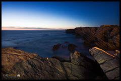 The rock (Filipe Batista) Tags: light sunset sea luz praia portugal clouds canon mar wide wideangle prdosol ceu peniche nvens granito grandeangular efs1022 40d
