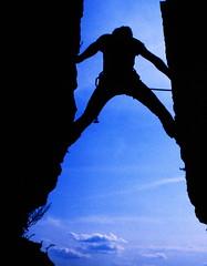 19840500 Pfalz Hochstein Nadel Klettern Uwe (j.ardin) Tags: rock germany deutschland sandstone climbing sandstein pfalz klettern felsen nadel südpfalz hochstein palatinate