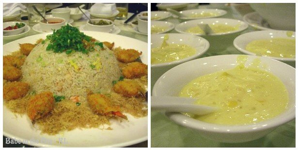 Fried Rice & Chilled Mango Puree with Sago