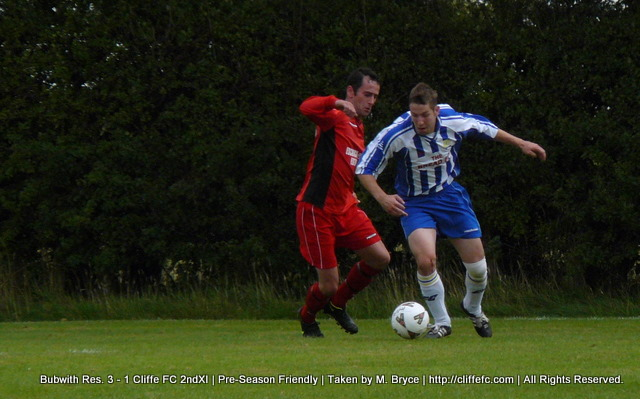 Cliffe FC 2ndXI vs Bubwith Reserves 16Aug09