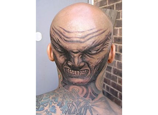 Monsters: bald tattoos