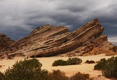 Vasquez Rocks (Rennett Stowe) Tags: california storm rocks redrock californiadesert californiastorm flinstones aguadulce vasquezrocks santaclaritacalifornia vasquezrockscountypark losangelesstorm aguadulcecalifornia californiahighway14 flinstonesthemovie