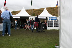 Outside The Clan MacPherson, Clan Matheson tents at The Gathering
