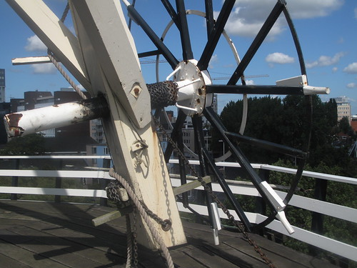 A view of the windmills steering wheel