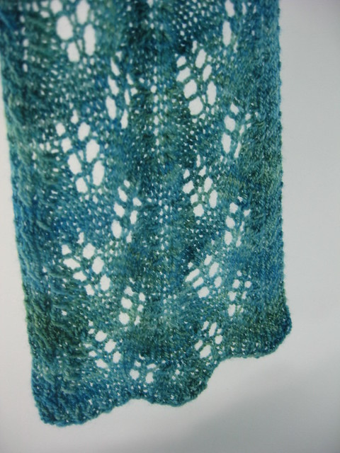 Different angle of the Haruha scarf