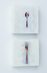 Little Spoon & FORK (SusanNajarianArt) Tags: white ford kitchen vintage silver surreal spoon cottagestyle shabbychic