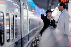 Service you can rely on: Shinkansen stewardess at Tokyo Station (Alfie | Japanorama) Tags: people woman station japan lady train asian japanese nikon asia