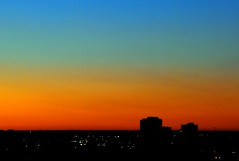 spectacular dawn (ankakay) Tags: sky silhouette skyline sunrise buildings rainbow nikon downtown spectrum nikkor d80 nikond80 geo:lat=45417658 geo:lon=75701133