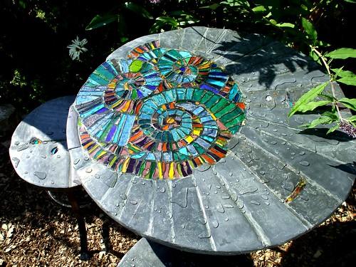 Ammonite garden/patio set