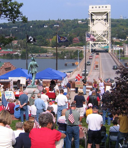 Keweenaw Now: Labor Day TEA Party draws crowd to protest