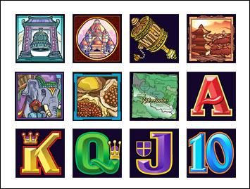 free Kathmandu slot game symbols