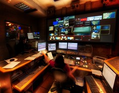 The NORAD of ABC in Austin (Stuck in Customs) Tags: world travel news color television digital america austin photography video high nikon texas technology control dynamic stuck desk room united north august indoor screen inner broadcasting processing production abc network states feed newsroom interview range audio 2009 hdr trey av customs sanctum onair abcnews norad timestamp audiovisual ratcliff offair kvue stuckincustoms d3x austinnews edsparks