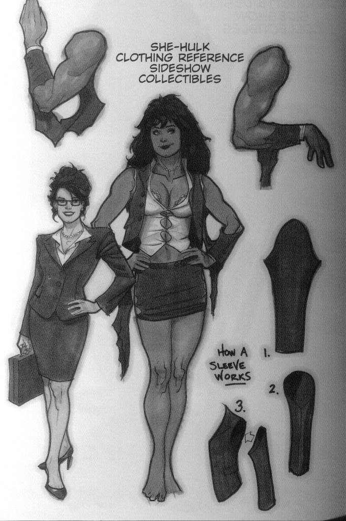 bocetos Hulka (Adam Hughes, sketchbook 2009)