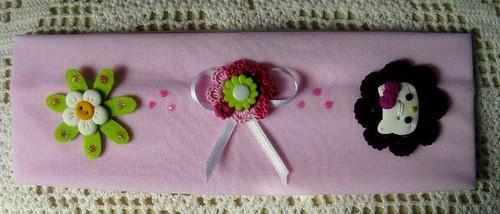 Faixa de cabelo rosa Hello Kitty - Ref.28/09