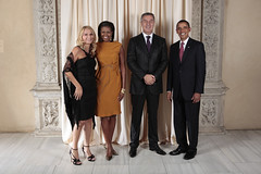 U.S. President Barack Obama and First Lady Michelle Obama With World Leaders at the Metropolitan Museum in New York (U.S. Department of State) Tags: usa ny newyork president whitehouse michelle unitednations obama montenegro firstlady generalassembly barackobama unga djukanovic michelleobama