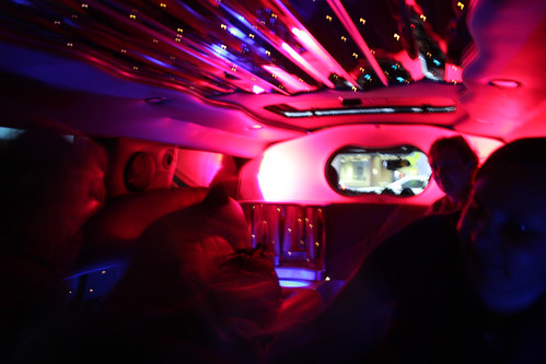 Inside the stretch hummer