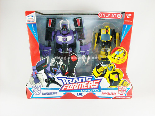 Transformers Shockwave Animated Voyager vs Bumblebee Activators - caja