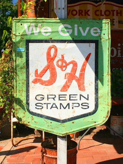 mom grandma collect rainy sh green stamps books