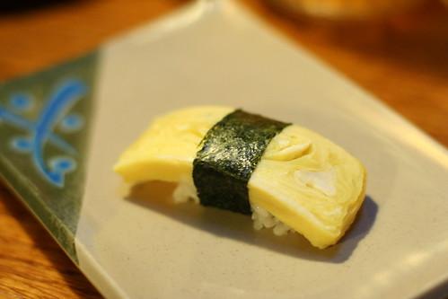 Tamago Nigiri sushi