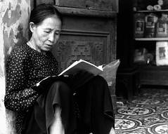 Reading in Vietnam (Reading In Public) Tags: vietnam 2009 readinginpublic hotpixuk