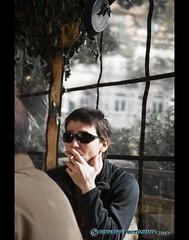 V-Mann (mcPhotoArts) Tags: man sunglasses cigarette secret smoke mission mann sonnenbrille zigarette geheim rauchen informer vmann liaisonofficer canoneos400d sigma1770mm2845dcmacro photoshopcs4 bumblebeephotografix contactman