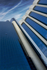Baynunah Hilton Tower Hotel Abu Dhabi (sminky_pinky100 (In and Out)) Tags: city travel blue sky urban tourism architecture clouds skyscraper hotel high uae abudhabi tall bluetiful 5photosaday bej omot citrit eyejewel baynunahhiltontowerhotel