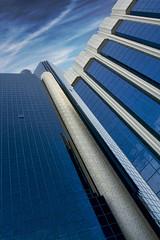 Baynunah Hilton Tower Hotel Abu Dhabi (sminky_pinky100 (In and Out)) Tags: city travel blue sky urban tourism architecture clouds skyscraper hotel high uae abudhabi tall bluetiful 5photosaday bej omot citrit eyejewel baynunahhiltontowerhotel