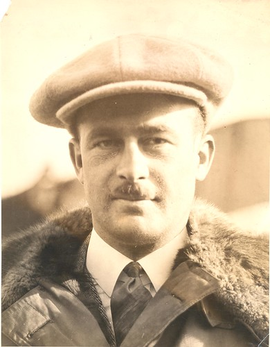 Photograph of airmail pilot Charles Ames, by unknown photographer, c. 1924, Smithsonian National Postal Museum.